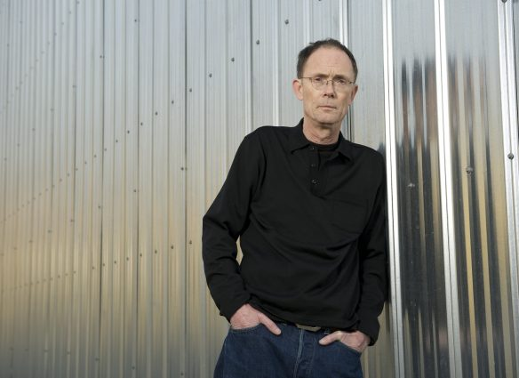 "Science fiction author, William Gibson in Vancouver. Gibson coined the term ""cyberspace"" in his short story ""Burning Chrome"" and later popularized the concept in his debut novel, Neuromancer. (Photo by Christopher Morris/Corbis via Getty Images)"